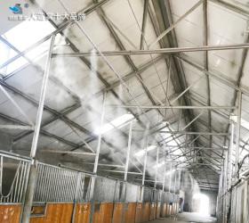 新疆库尔勒东归马都马棚喷雾降温项目