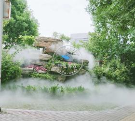 新疆奎屯中心公园喷雾造景项目
