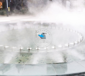 四川自贡南悦里商业街造景降温项目