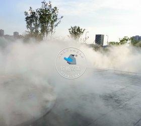 重庆中央公园售楼部喷雾造景案例