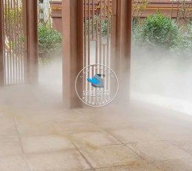 新疆库尔勒沁园春营销中心喷雾造景项目