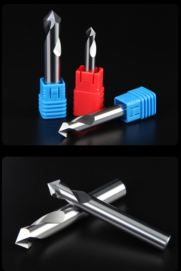 钨钢涂层铝合金专用定点钻头