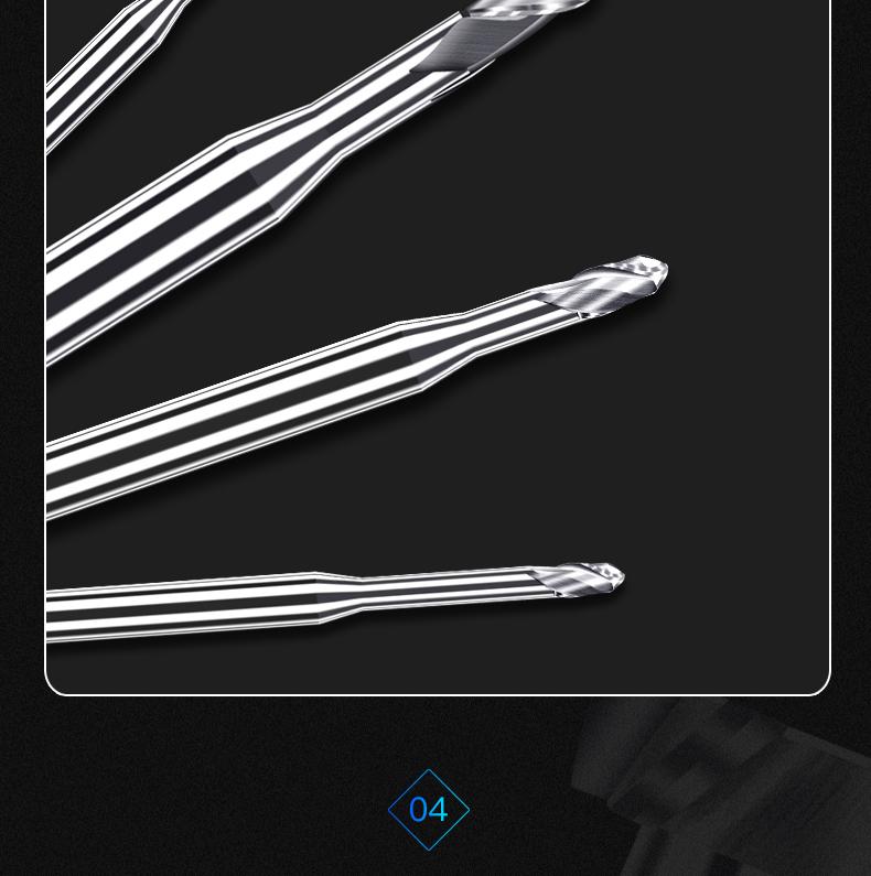 铝用深沟加长球头刀