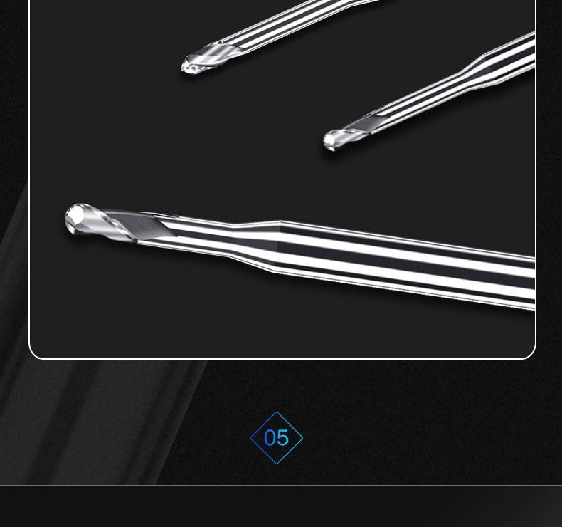 铝用深沟长颈球刀