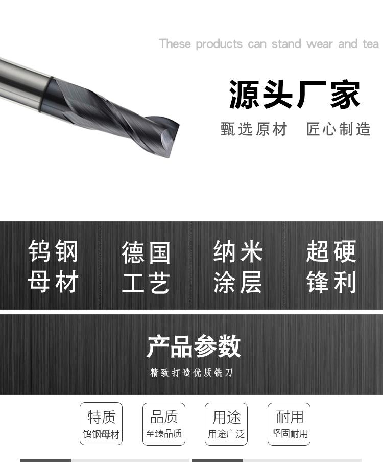 55度2刃平底铣刀