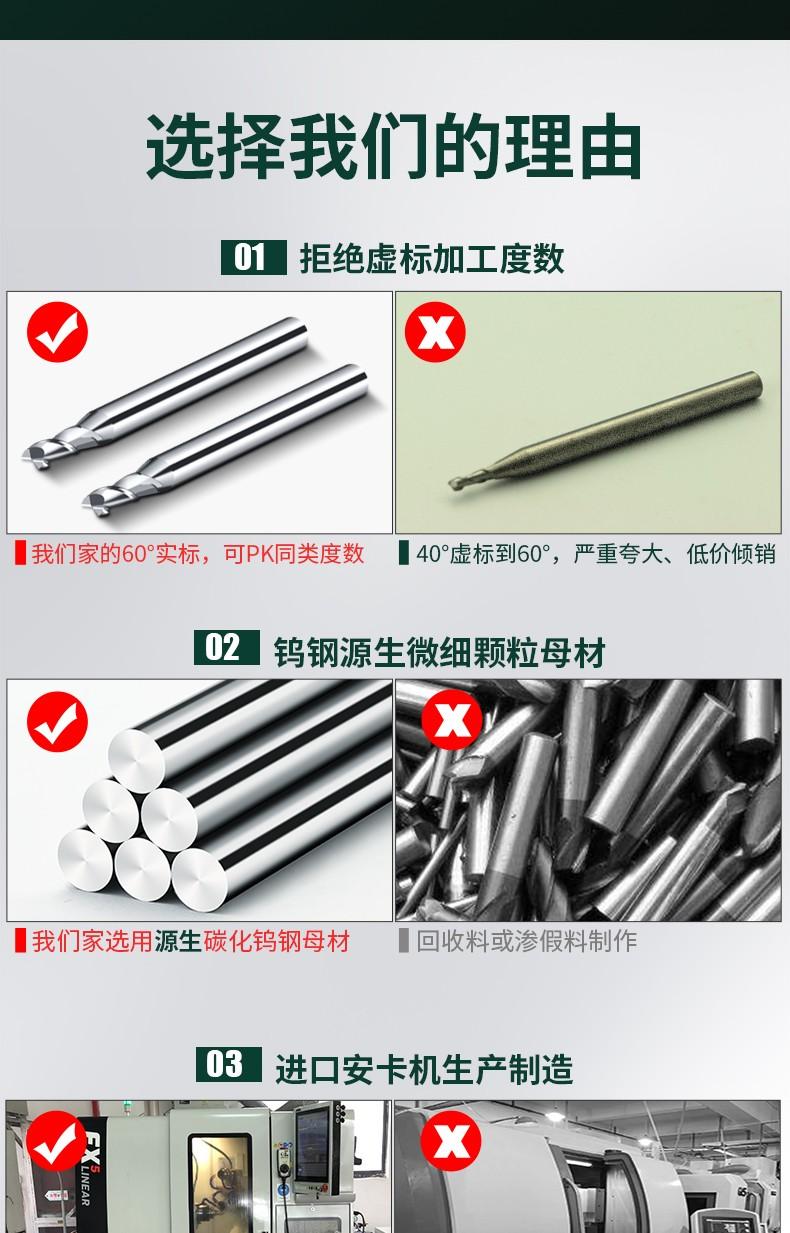 铝2刃小数点铣刀
