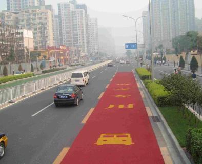 彩色景观道路