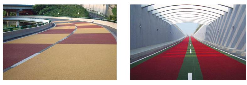 彩色陶瓷颗粒步道