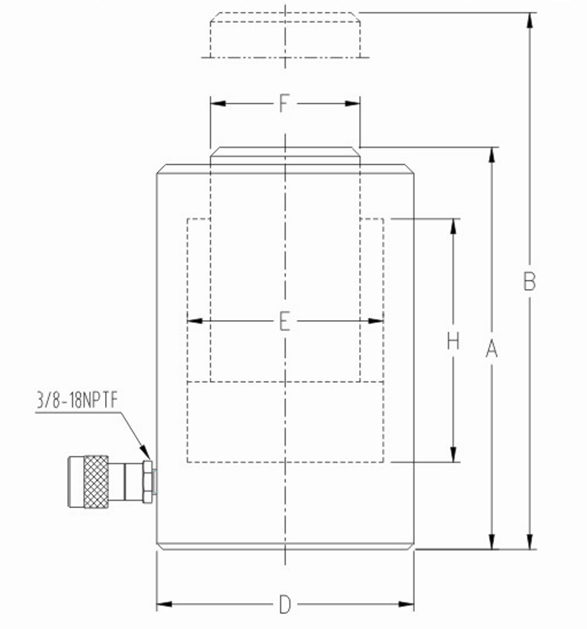 大噸位單作用液壓千斤頂