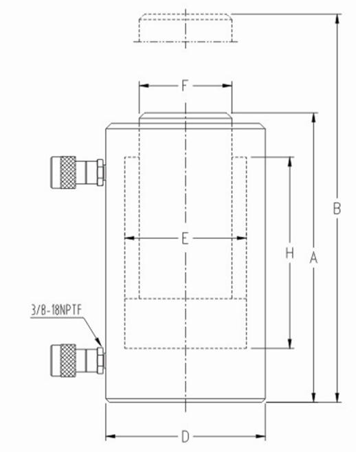 大噸位雙作用液壓千斤頂