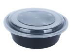 黑色膠碗(圓盆高蓋)