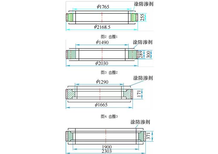 圖2~圖5為參與試驗的零件