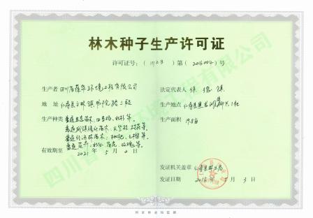 林木种子生产许可证(正本)