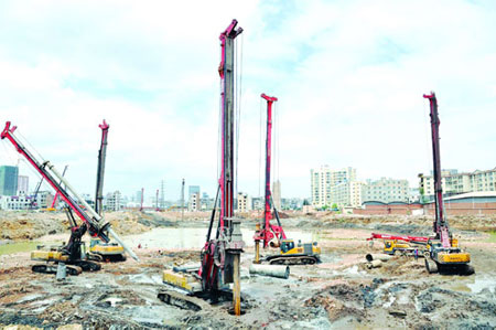 旋挖机孔桩施工班前教育,孔深、钻具对钻进效率的影响