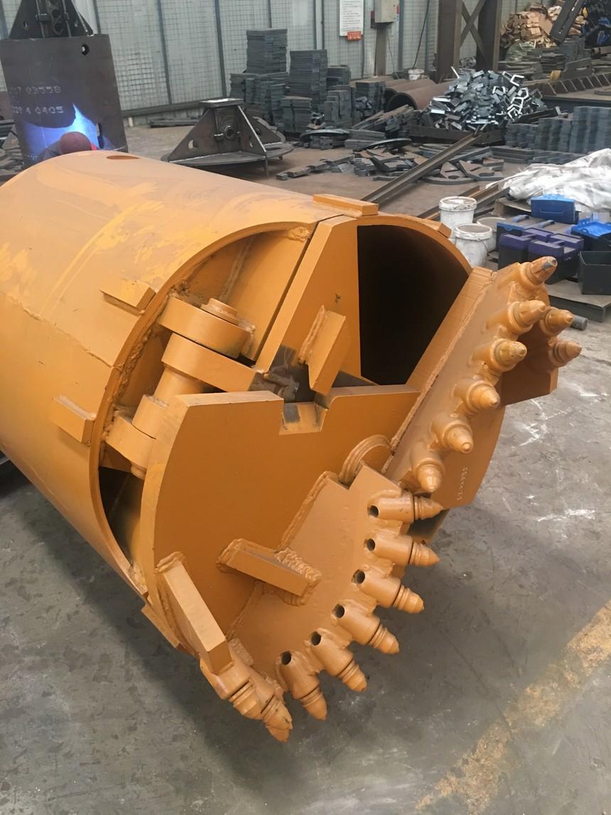 旋挖钻机锁杆学徒经过,旋挖钻机钻头处理方案