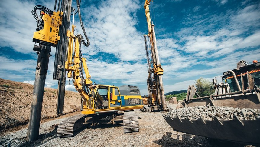 三一旋挖钻机165学习旋挖钻机深圳恒大高层建筑施工案例