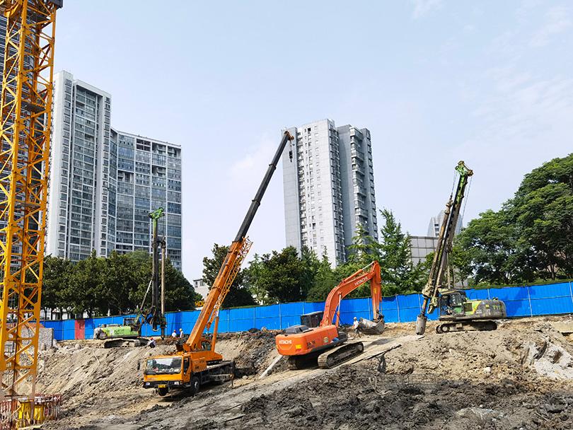 旋挖钻机操作学习泰恒基础KR90A助力江阴房建项目