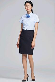 女士短袖短裙职业装套装