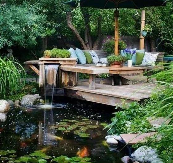 别墅锦鲤鱼池设计