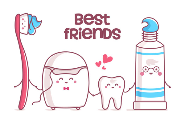 牙膏和牙刷是牙齿的好朋友
