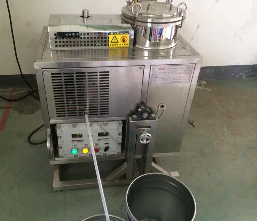 防爆溶剂回收机工作时有溶剂蒸气泄漏