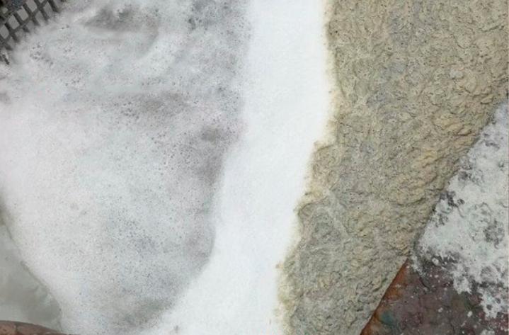 漆雾凝聚剂AB剂后如果水里面有泡沫产生