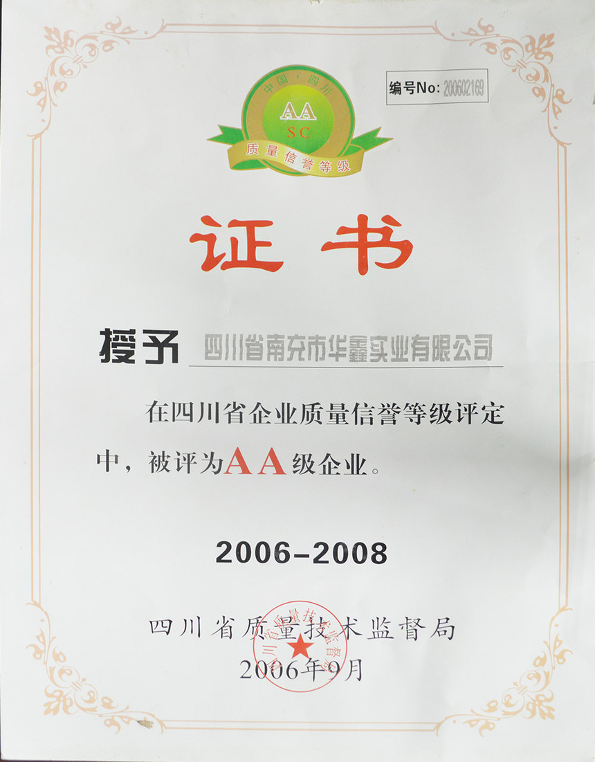 四川省企业质量信用等级AA级企业2006-2008.jpg