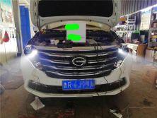 菏泽汽车改灯,传祺GM8改激光透镜