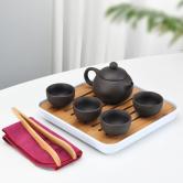 1壶4杯+盘-紫砂西施壶【裸瓷】