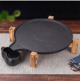 木架石茶盘