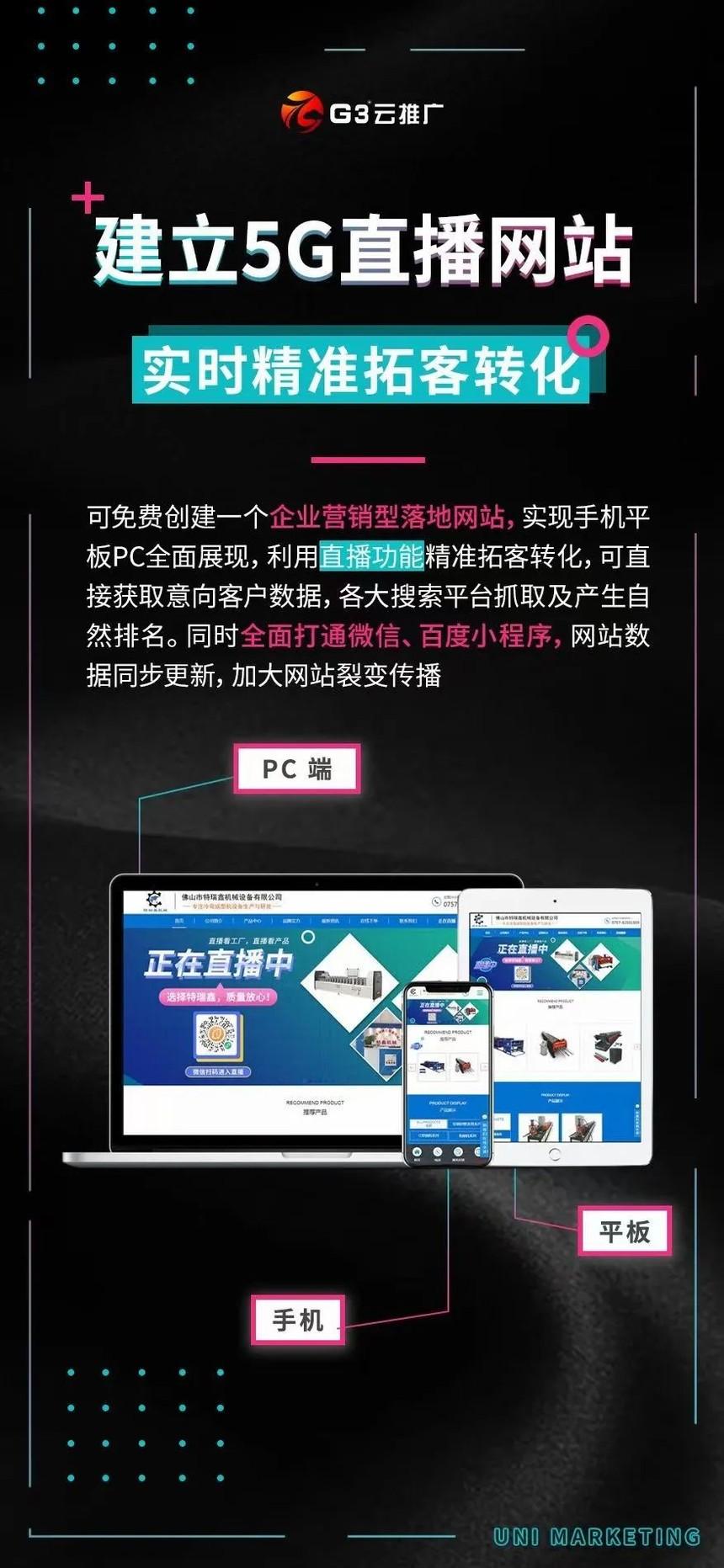 G3云推广7.0全域营销系统如何帮助西安企业实现全网营销