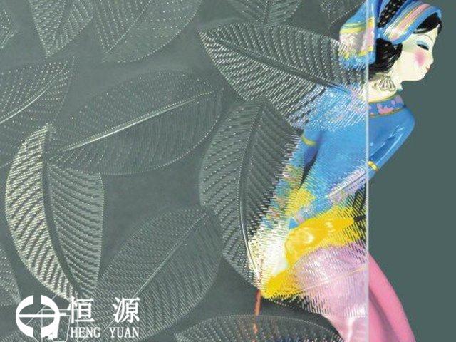 恒源压花玻璃伏桑 Hibiscus