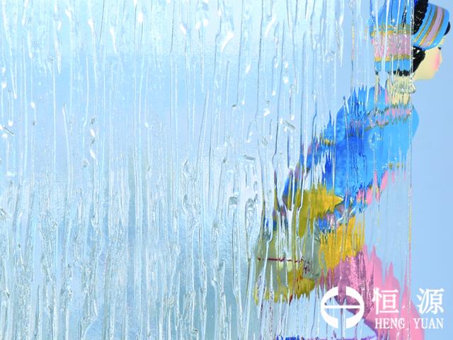 恒源超白大雨花压花玻璃