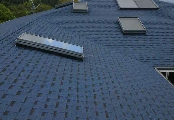 迪斯卡维单层多彩玻纤胎沥青瓦施工建筑屋面