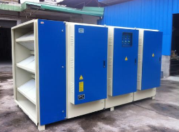 工业废气处理设备示意图