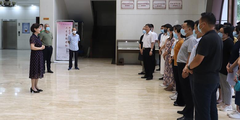 省司法厅机关组织青年干警到河北文学馆开展革命传统教育