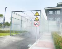 降尘、降温还能造景的喷雾系统