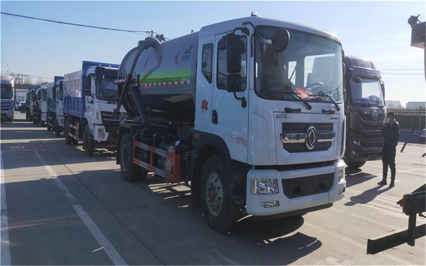 程力3台吸污3台污泥自卸车交赴唐山排队上牌助力唐山发电厂处理污小污泥