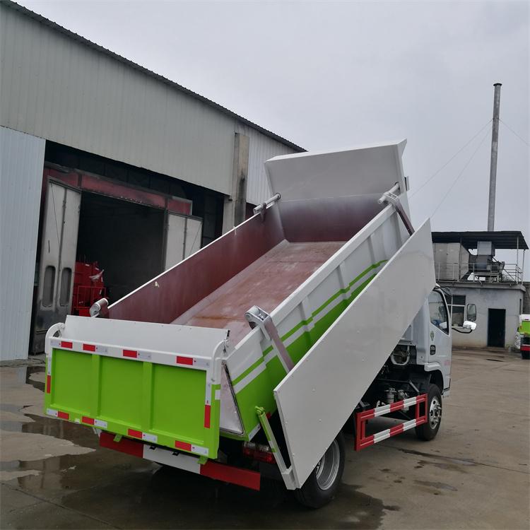 污泥运输车-粪-粪-清运车-运输自卸车,后盖液压缸开闭,关闭时全密封设计,保证水滴不漏