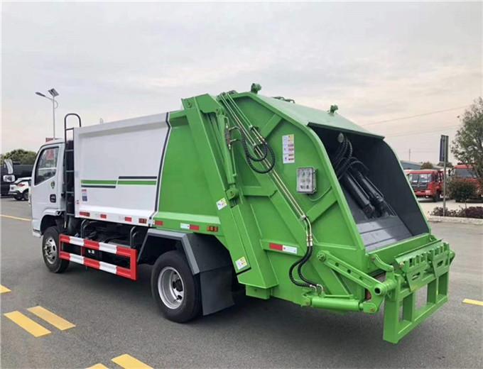 压缩式垃圾车图片环卫自卸式垃圾车
