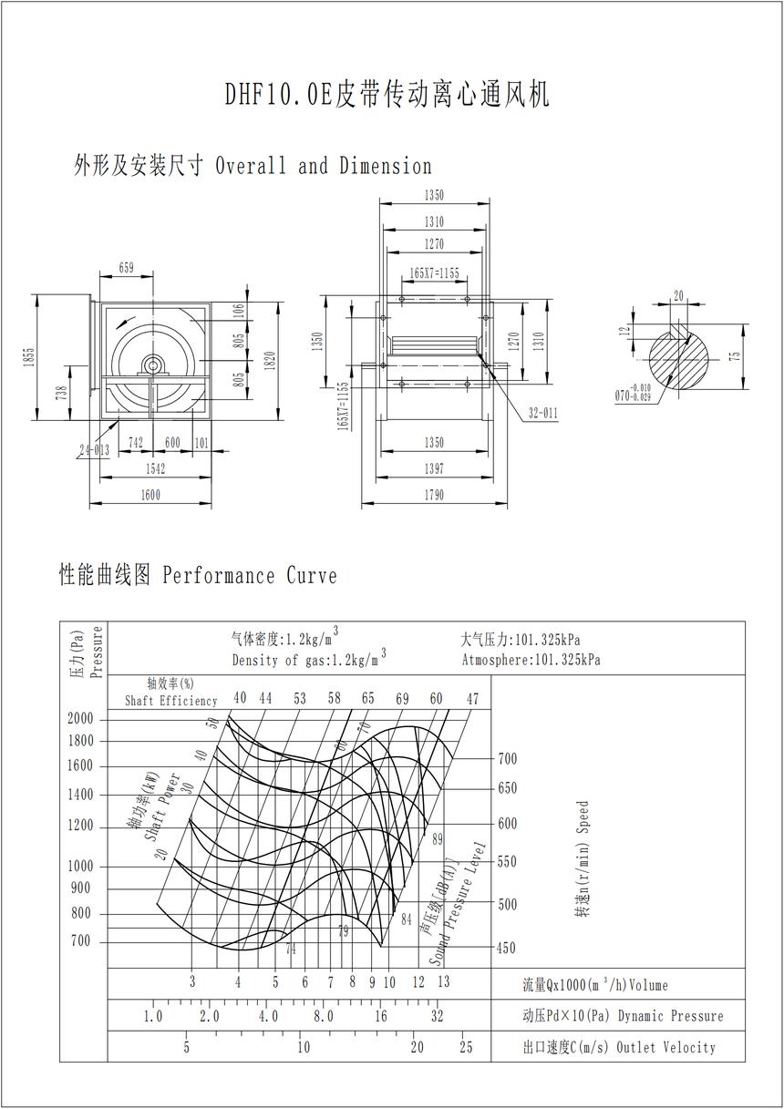 DHF10.0E皮带传动离心通风机