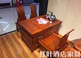 老船木多人方形茶桌