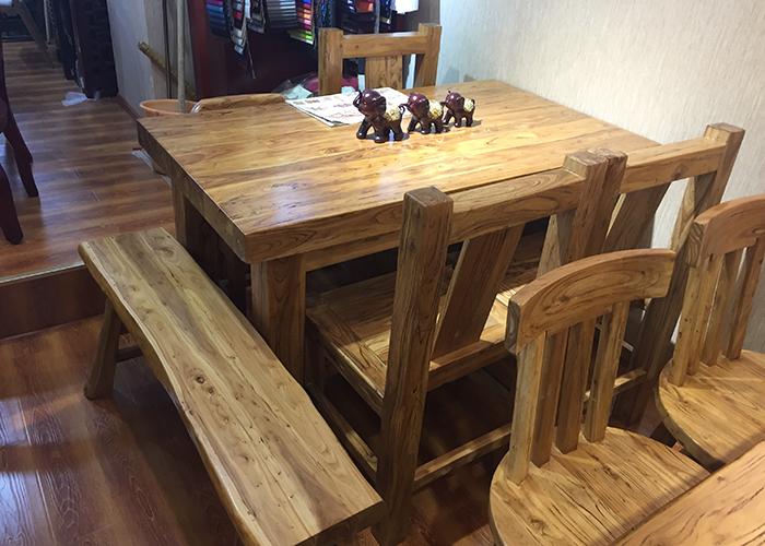 濟南時尚榆木桌椅