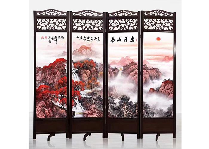 濟南中式酒店折屏