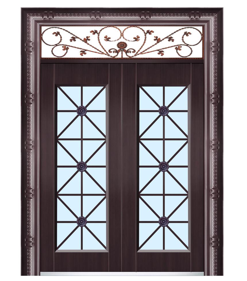 奢华玻璃铜门