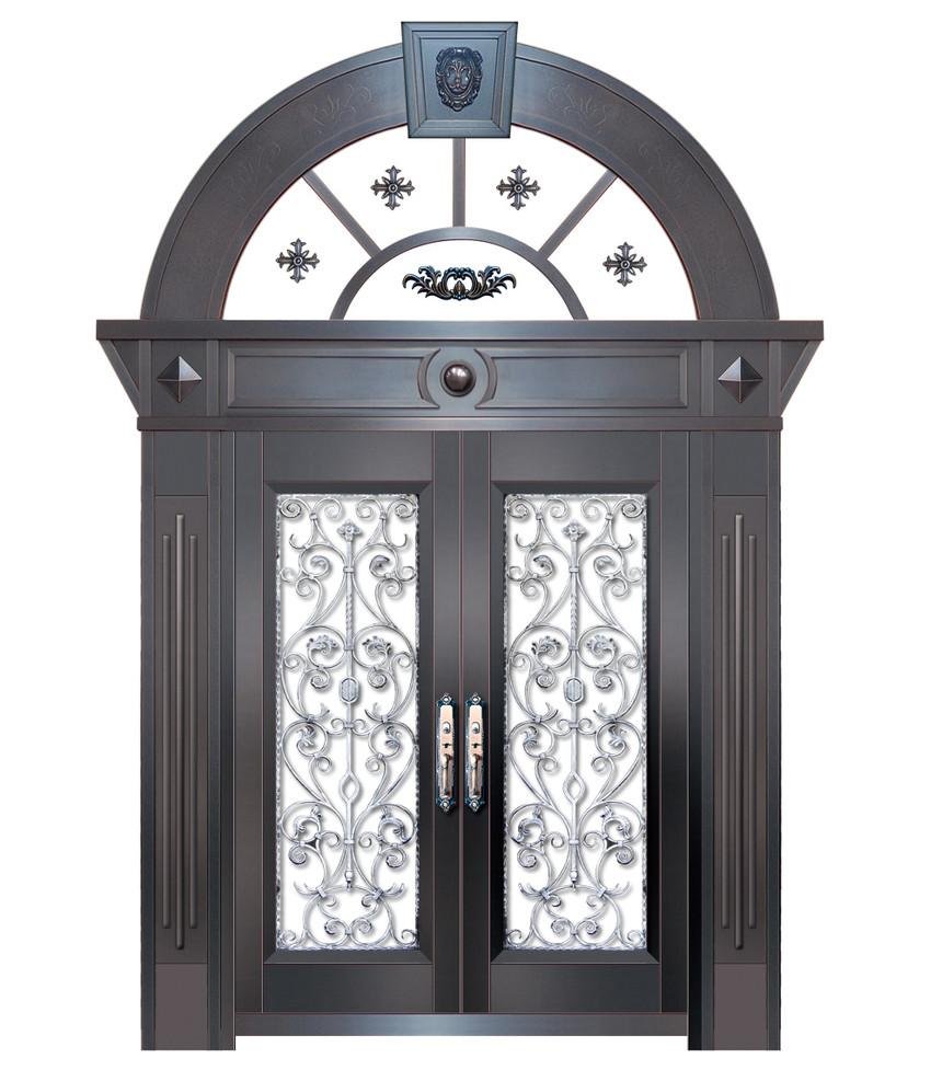 玻璃铜门定制