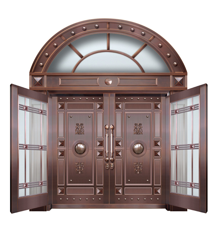 济南高档玻璃铜门