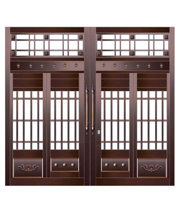 庭院玻璃铜门
