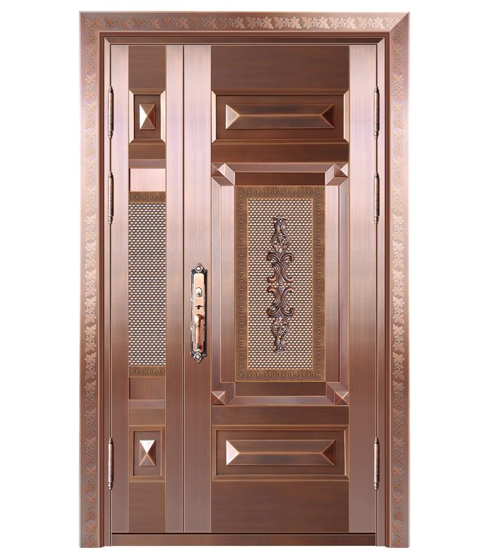 别墅子母实板铜门
