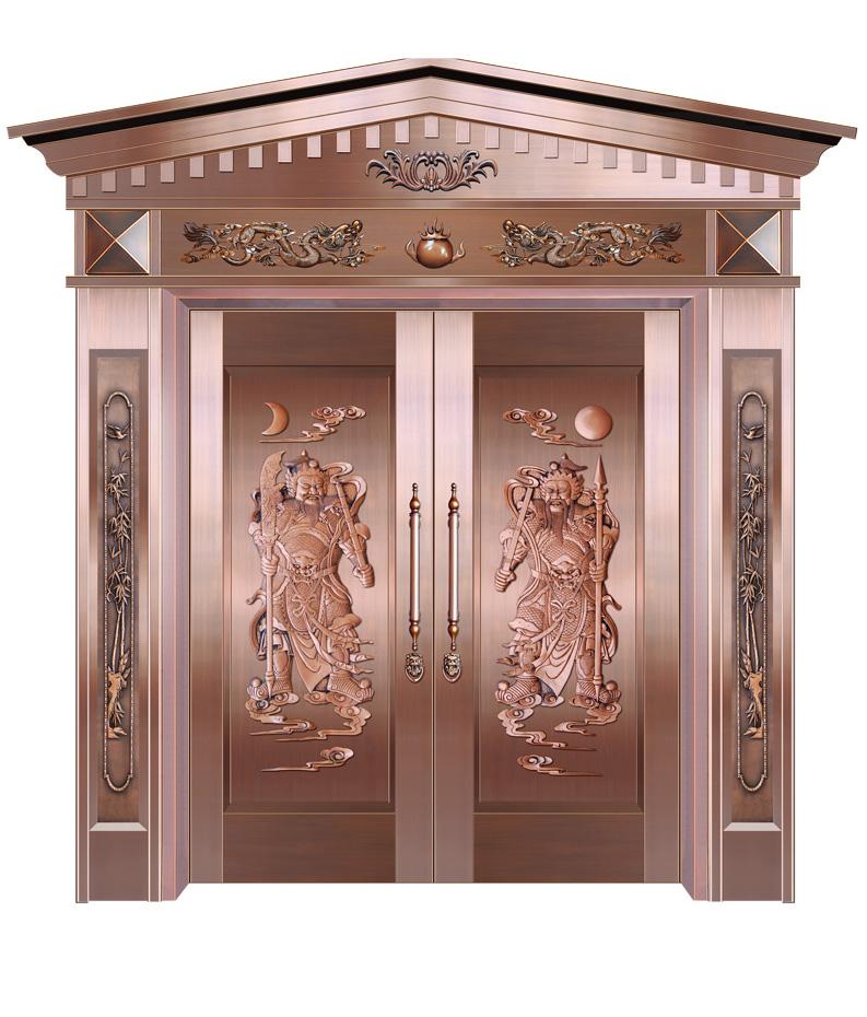 门神对开铜门